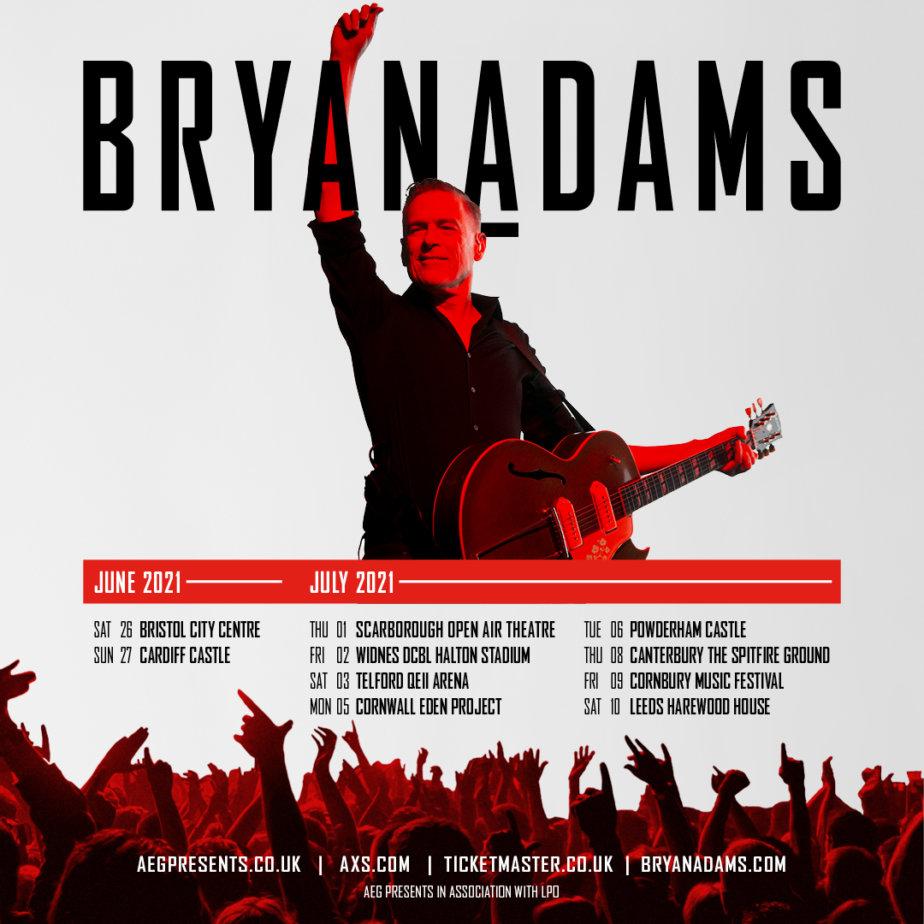 Bryan Adams UK Tour 2021